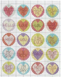 Very retro Tiny Cross Stitch, Cross Stitch Boards, Cross Stitch For Kids, Cross Stitch Needles, Cross Stitch Heart, Cross Stitching, Cross Stitch Embroidery, Cross Stitch Patterns, Plastic Canvas Ornaments