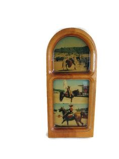 photos of real cowgirls in a frame with a unique shape Vintage Photo Frames, Lunch Box, Shapes, Cowgirls, Unique Jewelry, Handmade Gifts, Etsy, Photos, Kid Craft Gifts