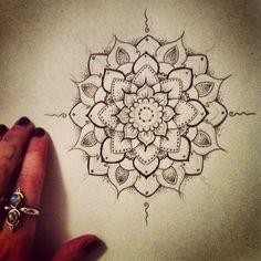 Mandala. Paint.