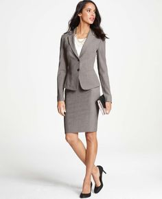 Ann Taylor - AT New Arrivals - Melange All-Season Stretch Two Button Jacket