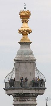 Monument to the Great Fire of London - (can climb to the top)