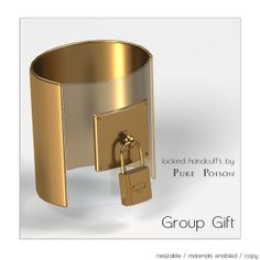 Pure Poison - Locked HandCuffs - Group Gift | Flickr - Photo Sharing!