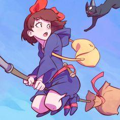 Studio Ghibli Films, Art Studio Ghibli, Hayao Miyazaki, Kuvshinov Ilya, Little Witch Academy, Anime Crossover, Animes Wallpapers, Cute Art, Art Reference