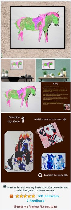 Horse Portrait: My little Green Pony - custom horse portrait - Custom pet portrait - horse - horse illustration - horse lover gift https://www.etsy.com/de/Kleckerlabor/listing/487622975/my-little-green-pony-geschenk-fur?ref=related-1&langid_override=0  (Pinned using https://PromotePictures.com)