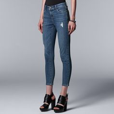 d820431cf18 Women s Simply Vera Vera Wang Everyday Luxury Ankle Skinny Jeans