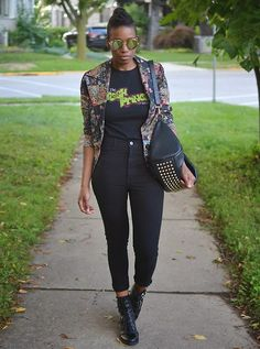 7d06470b Sushanna M. - Thrifted Vintage Floral Blazer, Thrifted Fresh Prince Of Bel  Air Tee