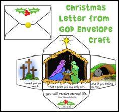 Christmas letter from God Envelope Craft for Sunday School from http://www.daniellesplace.com