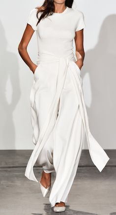 #fashion design #women apparel #total white outfit - Nonoo Spring 2015