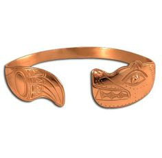 Copper Northwest Coast Native American CC Bear Bracelet. Made in USA. Metal Arts Group. $163.00