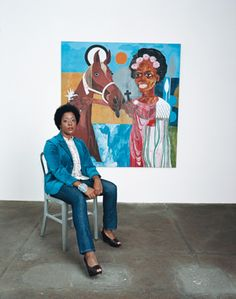 "Nina Chanel Abney, a Live Unchained featured artist, was also among the artists featured in the Huffington Post's ""30 black Artists Under 40 You Should Know.""  #art #liveunchained #huffpost"