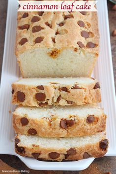 Sweet, buttery and bursting with cinnamon flavors, this cinnamon loaf cake if fabulous with a cup of coffee or tea in the afternoon! | Roxana's Home Baking