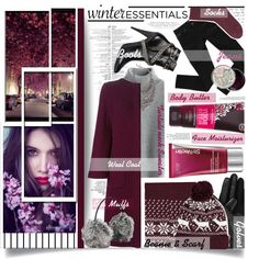 #WinterEssentials  #EssentialsListing by prigaut on Polyvore featuring Chicwish, Dolce&Gabbana, Bardot, Topshop, Yves Saint Laurent, DYLANLEX, Forever 21, Isotoner, Black Rivet and StriVectin