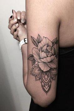 Black Roses Back of Arm Womens Tattoo MyBodiArt.com