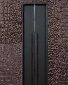 [New] The 10 Best Home Decor (with Pictures) - Chestnut brown detailing of a leather laminated wardrobe. It has an elongated grooved handle. This is an eco chic eye- candy for an extremely comfortable living. City Furniture, Wardrobe Design, Wood Laminate, Tall Cabinet Storage, Home Goods, Eye Candy, House Plans, Woodworking, Modern