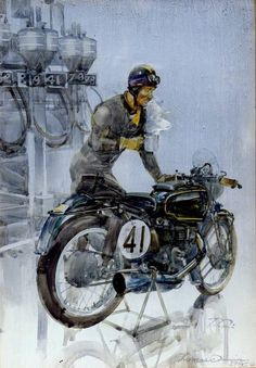 Oil&Ink is a traveling motorcycle art show by artists working in art from around the world. The show was founded in 2013 by John Christenson of Staghead Moto. Bike Poster, Motorcycle Posters, Motorcycle Art, Bike Art, Cafe Racing, Cafe Bike, Automotive Art, Classic Bikes, Vintage Motorcycles