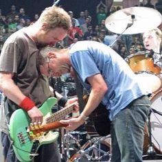 The guitar brotherhood. Jeff Ament and Stone Gossard, Pearl Jam.