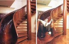sliding stairs...a winner with kids & adults alike...