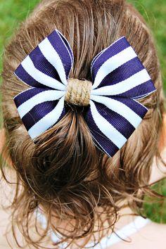 Nautical Hair Bow Clip by AllThingsRosette on Etsy