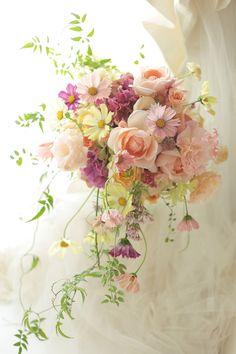 ブーケ verawangのドレスに ホテルメトロポリタンエドモント様への画像:一会 ウエディングの花