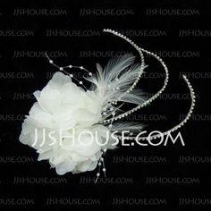 Accessoires de coiffure - $14.99 - Belle Strass Plumes Satiné Fascinators (042025489) http://jjshouse.com/fr/Belle-Strass-Plumes-Satine-Fascinators-042025489-g25489