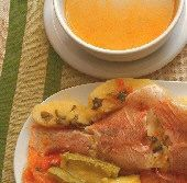 Psarosoupa: Fish Soup with Red Snapper and Vegetables