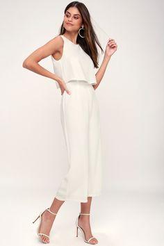 8c346732c89 Glam-bition White Backless Midi Jumpsuit