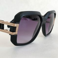 The mythical late matt black Cazal 623 Made in West Germany. Rick Ross Sunglasses, Hip Hop Mode, Jamel Shabazz, 1970s, Germany, Vintage Sunglasses, Retro, Classic, How To Make