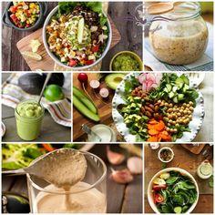 10+1 legfinomabb vegán salátaöntet Pasta Salad, Cobb Salad, Falafel, Tahini, Plant Based Recipes, Tofu, Salads, Vegan, Ethnic Recipes