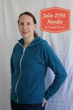 Tangible Pursuits: Sewing for Myself: Jalie 2795 Zip-Up Hoodie