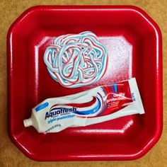 Toothpaste Squirt Lesson for teaching kids not to be rude and put down others...