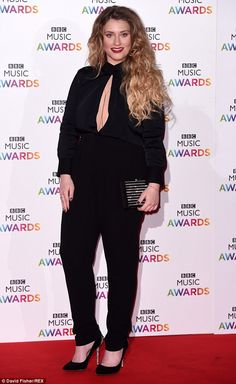 Favourite ensemble: Ella Henderson attended the BBC Music Awards, at London's Earls Court . Madison Davenport, Earls Court London, Ella Anderson, Meghan Ory, Lyndsy Fonseca, Old Singers, Black Jumpsuit, Music Awards, Bbc