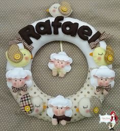 #felt #garland #sheeps ovelhas (2)
