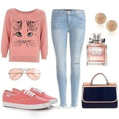 Pretty outfit for school