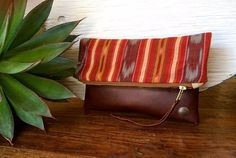 Handmade Genuine Leather Clutch with by indigosoulcompany on Etsy