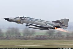 """Travelling back in time: Luftwaffe Phantom in """"Norm retro scheme celebrating the final months of operations. Airplane Fighter, Fighter Aircraft, Military Jets, Military Aircraft, Luftwaffe, Air Fighter, Fighter Jets, F4 Phantom, Jet Plane"""