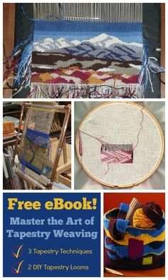 Gorgeous, on-trend tapestry weaving is in your future! Create enviable wall-hangings, gorgeous bags, and more with this free ebook!