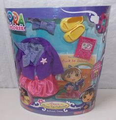 Fisher Price Dora The Explorer Doll School Time Dress-Up Clothing Outfit Set New #FisherPrice
