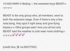 141025 KMW in Beijing ::: the sweetest boys BEASTㅠㅠㅠㅠㅠ