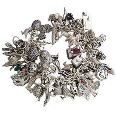 Loaded Sterling Silver Charm Bracelet   Silver Star Charms #charm #charmbracelet #silverstarcharms