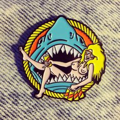 Shark Babe Lapel Pin