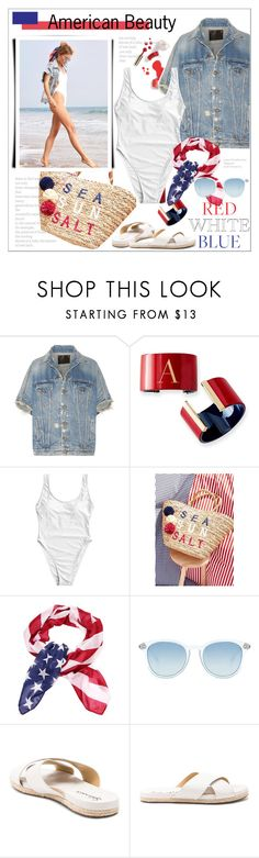 """""""#fourthofjuly"""" by stylemeup-649 ❤ liked on Polyvore featuring Ciaté, R13, Le Specs and Splendid"""