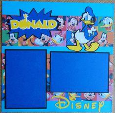 Cricut! Donald Duck Disney premade single scrapbook by BabyBearsCottage, $6.00  I got carried away with Disney Cricut cartridge.