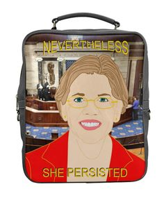 ELIZABETH WARREN BACKPACK... nevertheless she by kayciwheatley
