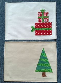 Christmas placemats for two set of two by theMatulatwinssew