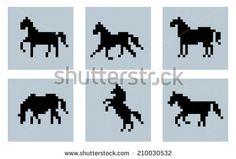 horse pixel - Google Search