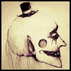 Fancy Creeper Sketch - Macabre Artwork