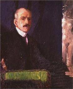 Max Kurzweil  - Self-Portrait  (Born: 12 October 1867; Bzenec, Czech Republic -  Died: 09 May 1916; Vienna, Austria )  Austrian --Field: painting, printmaking, illustration  -  Movement: Art Nouveau, Expressionism
