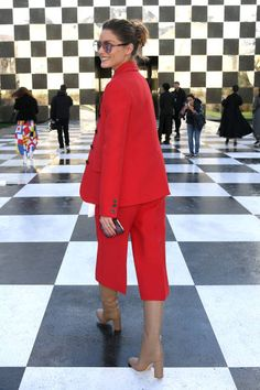 Olivia Palermo attends the Christian Dior Haute Couture Spring Summer 2018 show as part of Paris Fashion Week on January 22 2018 in Paris France