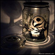 Jack Skellington hand painted holder, a present for a friend. More candle holders look, look, look! Halloween Candles, Diy Halloween Decorations, Halloween Fun, Spooky Decor, Jack Skellington, Tim Burton, Nightmare Before Christmas Ornaments, Design Candle Holders, Up The Movie