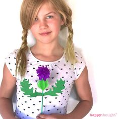 How to make a paper thistle! Templates and tutorial at happythought.co.uk